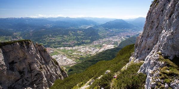 Panorama verso Trento e Valsugana