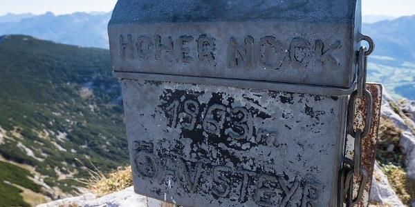 Hoher Nock Gipfelbuch