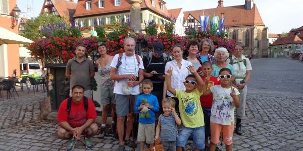 Pilgergruppe in Feuchtwangen