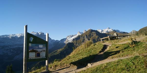 Gedenkstein oberhalb der Bergstation Grüneck
