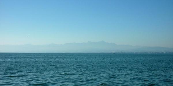 auf der Fähre von Konstanz nach Friedrichshafen
