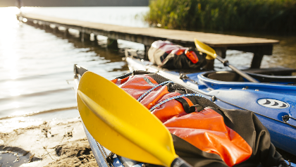 Start ins Kanu-Abenteuer in der Mecklenburgischen Seenplatte