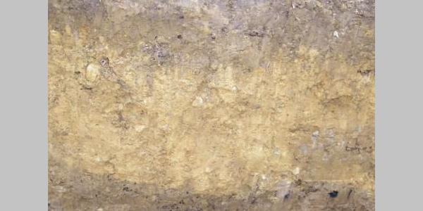 Alter Boden mit Holzkohlebändern