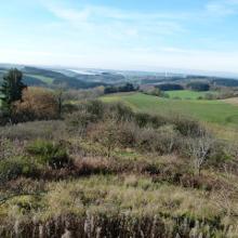 Fernsicht vom Eifelblick übers Mehlen- und Möhnbachtal