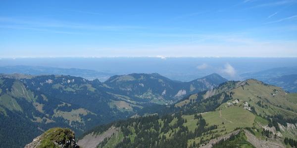 Aussicht Hoher Freschen (21. August 2013)