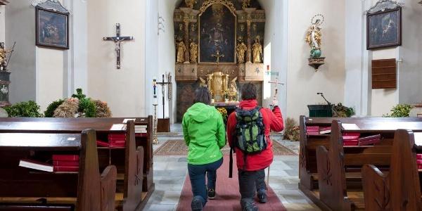 In der Pfarrkirche Edelschrott Hl. Laurentius