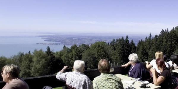 Berghaus Pfänder, Terrasse
