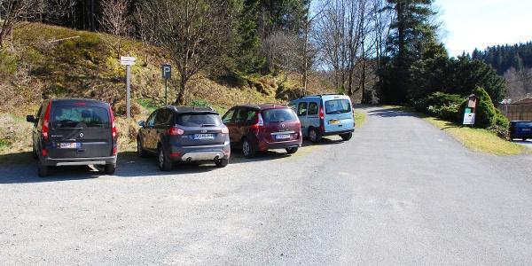 Parkplatz an der Enkelberger Mühle