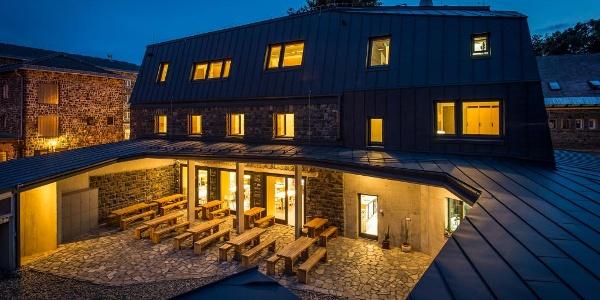 Galyatető Hikers' Center by night