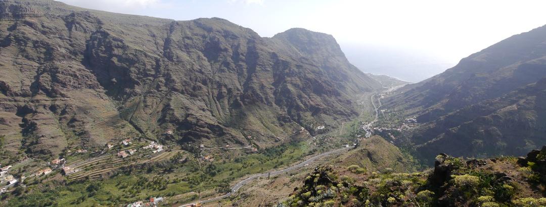 Ausblick vom Mirador César Manrique über das Valle Gran Rey