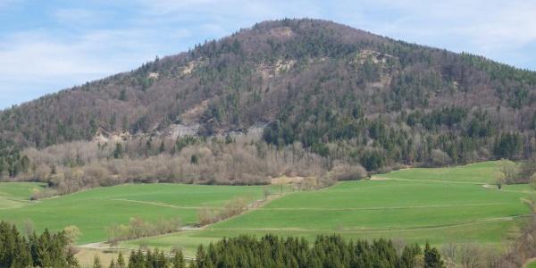 Blick vom Geißhorn auf den Eichberg