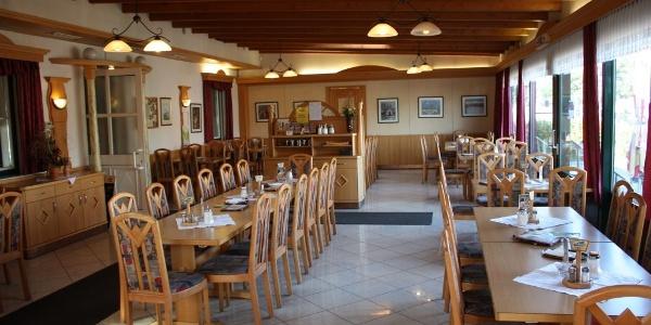 Restaurantbereich im Gasthaus Graml