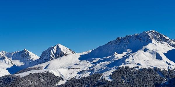 Aussicht von der Prätschalp im Winter
