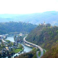 Blick vom Rheinsteig ins Lahntal