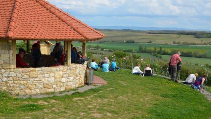 Glockenbergschutzhütte am Gauberg