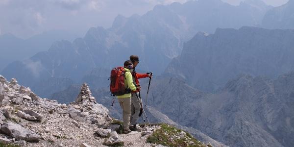 im slowenischen Klettersteig