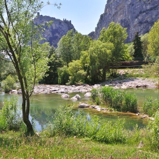 Der Fluß Sarca (Ortschaft Moleta, Arco)