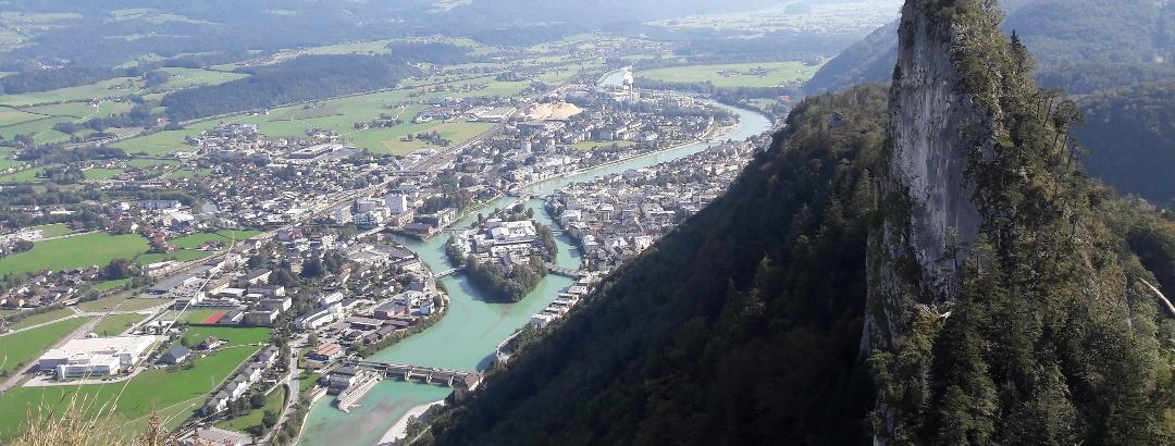 Ausblick vom Großen Barmstein nach Hallein