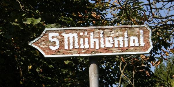 Eingang zum Fünfmühlental in Bad Rappenau-Zimmerhof