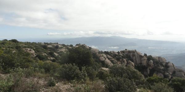 Aussicht Richtung Pyrenäen