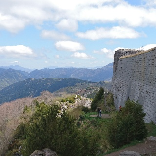 The view from the chateau walls.