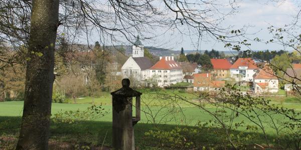 Blick vom Kreuzweg auf Königseggwald
