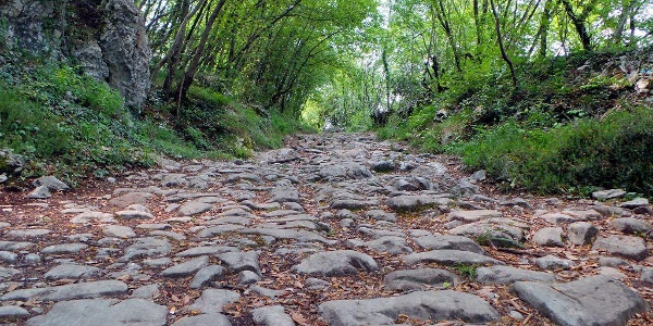 "The old Roman road ""Brozzera"" in Drena"