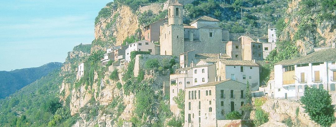 Templerburg von Miravet und Ebro Fluss