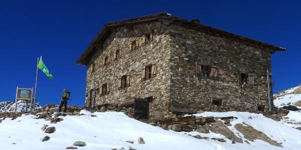 Die AVS Rieserfernerhütte am Gemsbichljoch