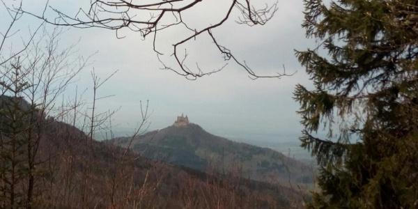 Die Burg Hohenzollern.