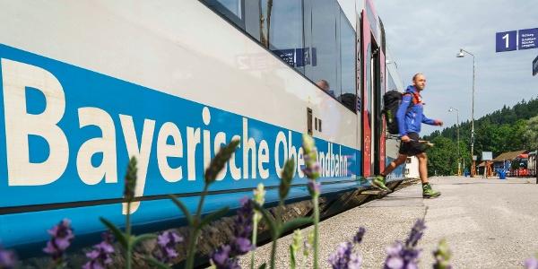 An- und Abreise mit der Bayerischen Oberlandbahn BOB