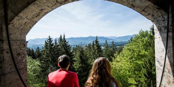 Blick vom Aussichtsturm auf dem Taubenberg