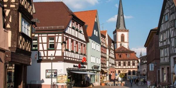 Die historische Altstadt von Lohr am Main