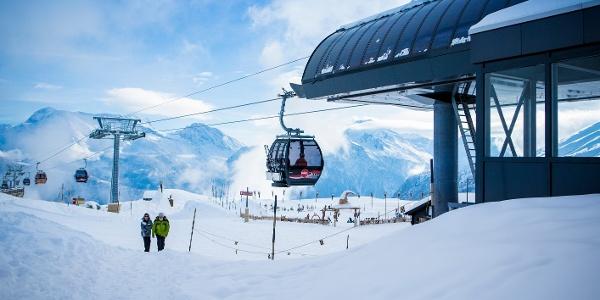 Die Gondelbahn im Skigebiet Belalp