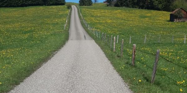 Steile Rampe im Alpenvorland