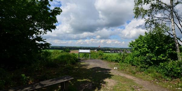 Blick vom Aussichtspunkt in Richtung Westen