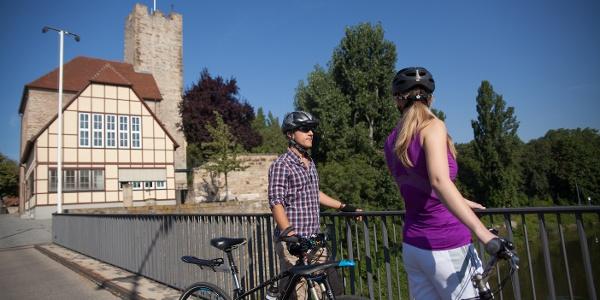 Radfahrer in Lauffen am Neckar