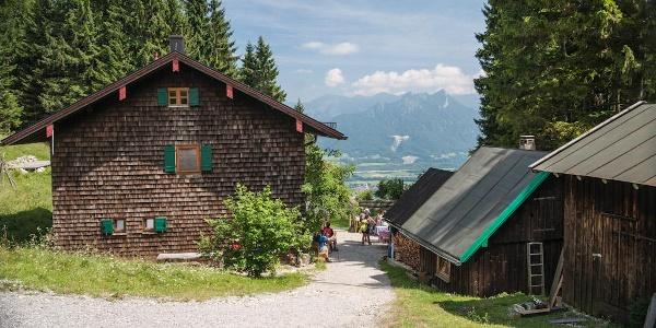 Blick auf die Breitenberghütte