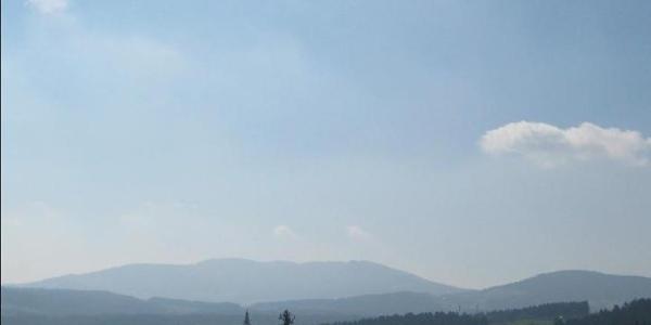 Blick von der Bratlalm ins Dorf Wenigzell
