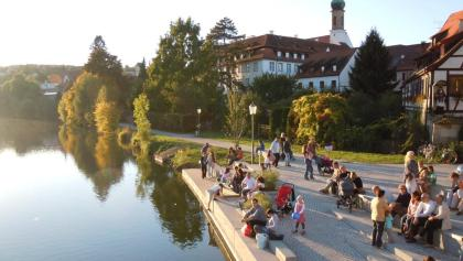 Abendstimmung am Neckar in Rottenburg