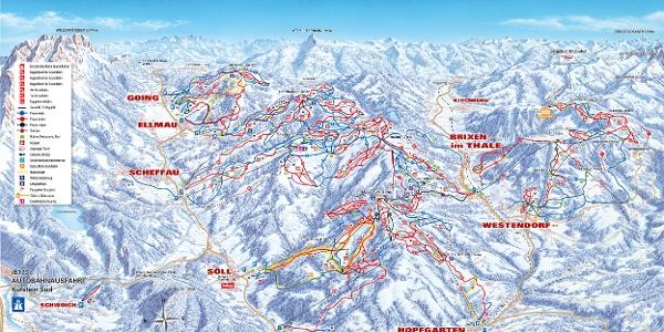 Pistenpanorama SkiWelt Wilder Kaiser – Brixental