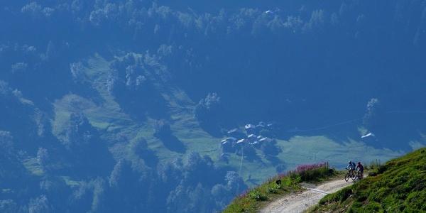 On the way to Breithornsattel