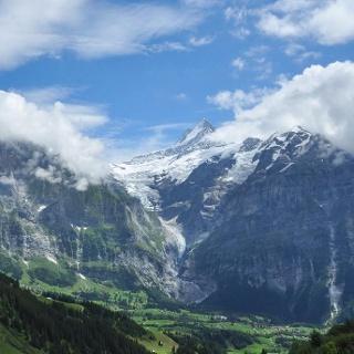 Afdaling naar Grindelwald