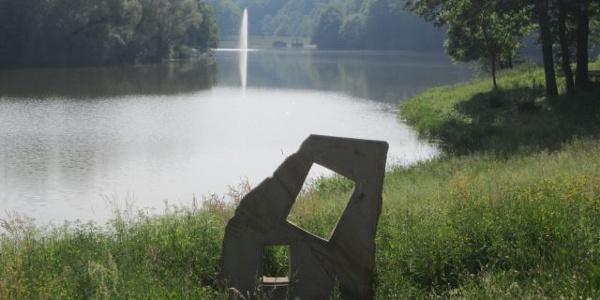 Skulptur am Ohmbachsee