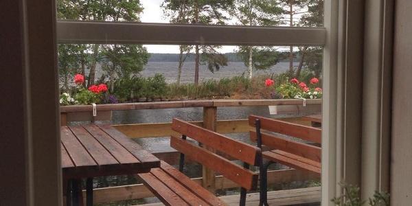 Utsikt från Kanalcaféet, Dellenbadens sommarhem
