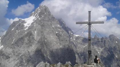 Blick vom Hirschwieskopf auf die Watzmann Südspitze