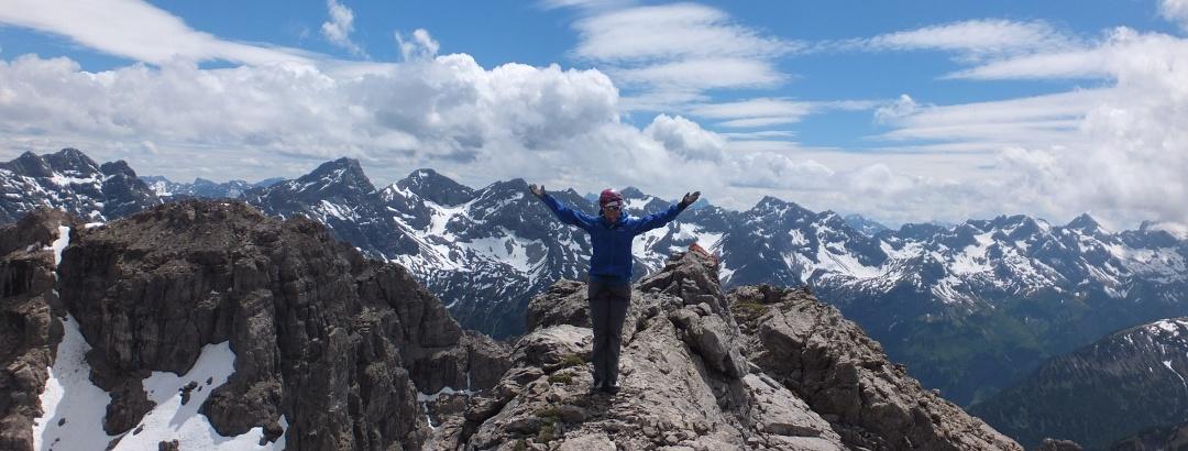 Kurz vorm Gipfel des Großen Rosszahns