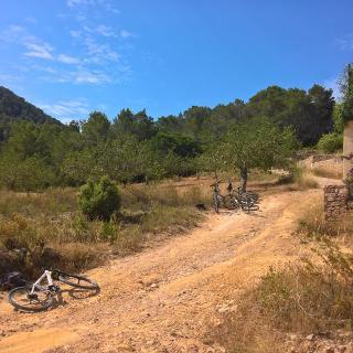 Streckenabschitt um Sant Agusti des Vedra