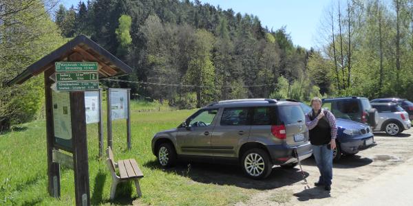 Wanderparkplatz bei Obermiethnach