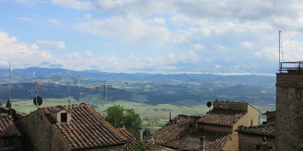 Het uitzicht op Volterra